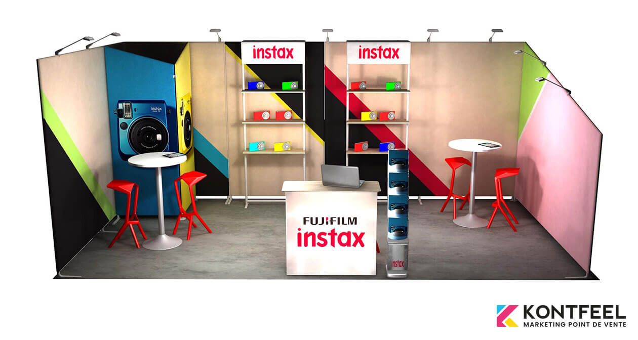 stand textile modulable 18 m²