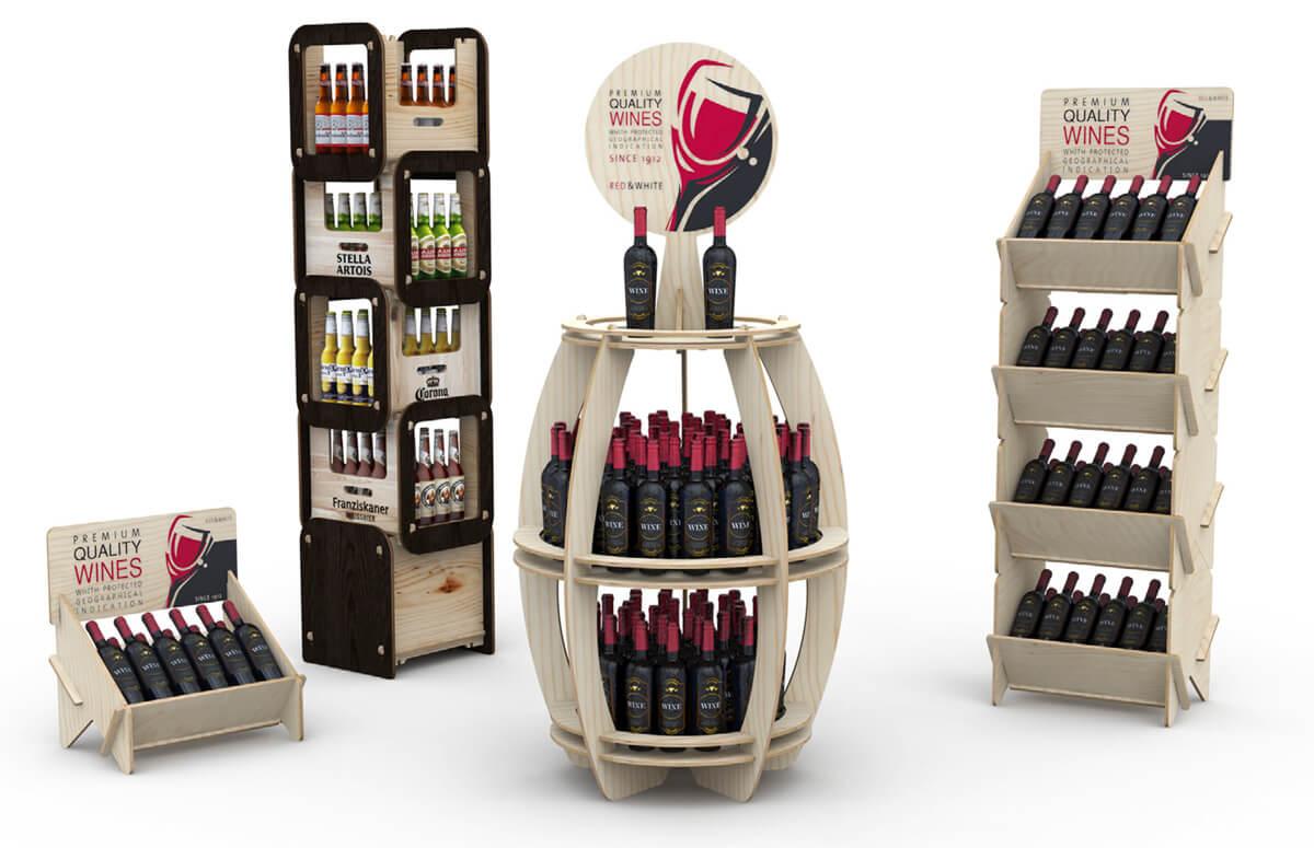 Présentoir pour bouteilles de vins