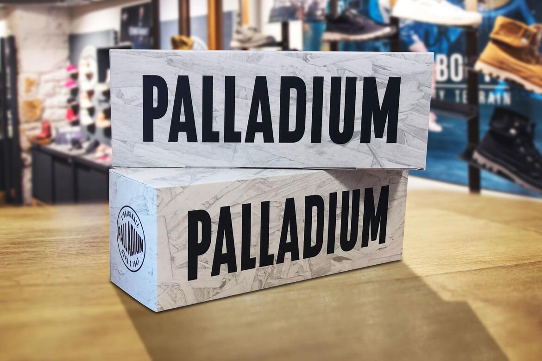 PLV carton écologie sous forme de rappel de marque