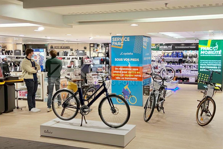 Podium pour vélo electrique