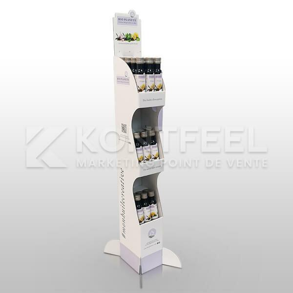 Présentoir carton sous forme de colonne